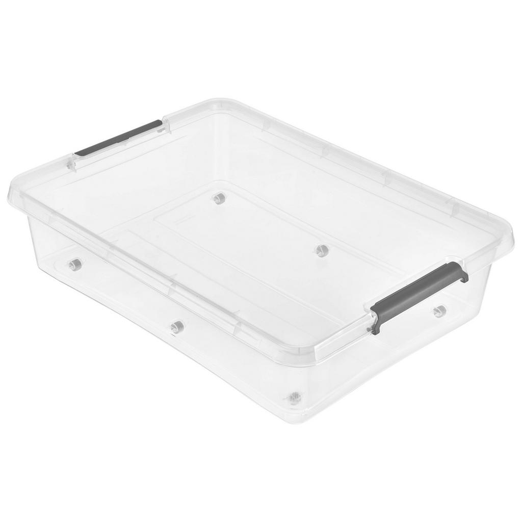 Image of Homeware Unterbettroller 76/57/18 cm , 1104500100000 , Transparent , Kunststoff , 57x18x76 cm , glänzend , Deckel, Rollen, rollbar, Deckel abnehmbar, Sichtfenster, stapelbar , 003556015504