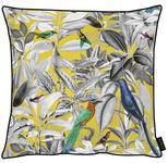 KISSENHÜLLE Blau, Gelb, Grau, Grün, Multicolor, Weiß  - Blau/Gelb, Trend, Textil (46x46cm) - Novel