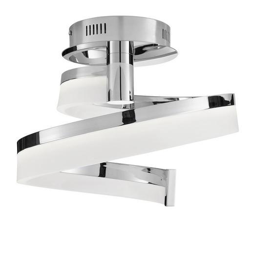 LED-DECKENLEUCHTE - Chromfarben, Design, Metall (28cm) - Ambiente