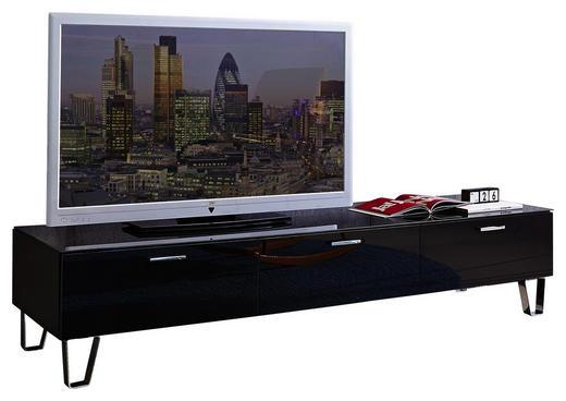 TV-ELEMENT - Silberfarben/Schwarz, Design, Glas/Holz (189/42/61cm) - Leonardo