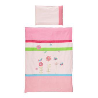 KOJENECKÉ POVLEČENÍ - růžová, Basics, textil (100/135cm) - PATINIO