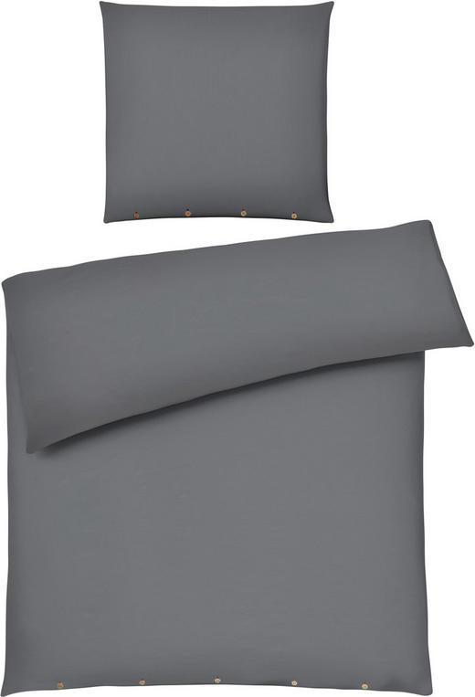 BETTWÄSCHE Anthrazit 155/220 cm - Anthrazit, Design, Textil (155/220cm) - Ambiente