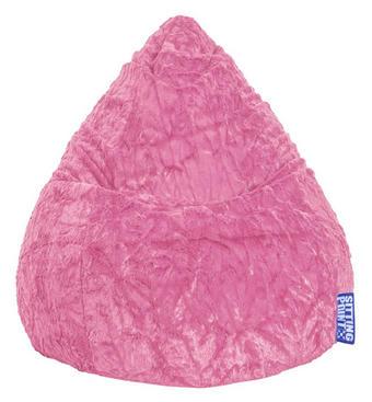 VREČA ZA SEDENJE  FLUFFY L, roza tekstil - roza, Konvencionalno, tekstil (70/90cm)