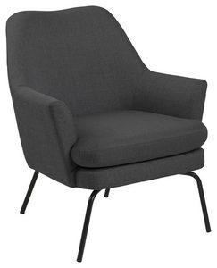 FÅTÖLJ - mörkgrå/svart, Trend, metall/textil (58/82/50cm) - Ambia Home