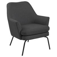 KŘESLO - černá/tmavě šedá, Trend, kov/textil (58/82/50cm) - Ambia Home