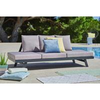VRTNA KLUPA - tamno siva/svijetlo siva, Design, metal/tekstil (210/72/74cm) - Ambia Garden