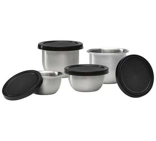 SADA MÍS - černá/barvy nerez oceli, Basics, kov/umělá hmota - Homeware