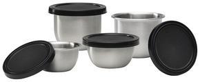 SKÅLSET - svart/rostfritt stål-färgad, Basics, metall/plast - Homeware