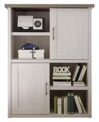 KOMODA VISOKA - bijela/boje grafita, Design, drvni materijal/metal (106/135/42cm) - Carryhome