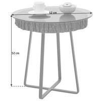 COUCHTISCH in Anthrazit, Bronzefarben, Eichefarben - Eichefarben/Anthrazit, Design, Glas/Holz (52/52cm) - Valnatura