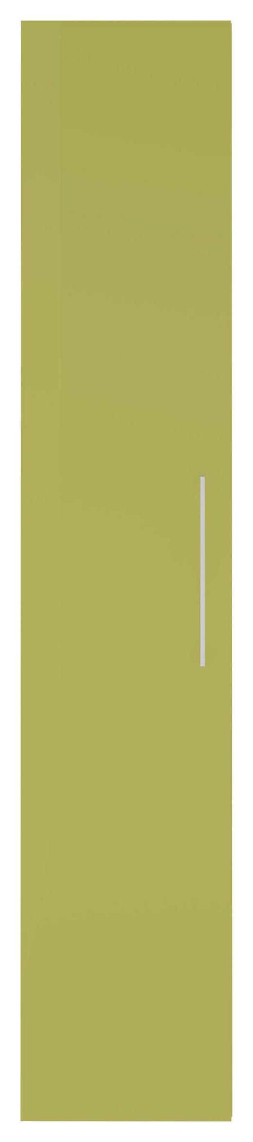DREHTÜRENSCHRANK 1-türig Grün, Weiß - Chromfarben/Weiß, Design, Holzwerkstoff/Metall (40/208/57cm) - Carryhome