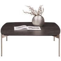 COUCHTISCH in Keramik, Metall 100/100/35 cm - Edelstahlfarben/Anthrazit, Design, Keramik/Metall (100/100/35cm) - Venjakob