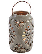Windlicht mit Henkel  - Creme, Basics, Keramik (15/24cm)