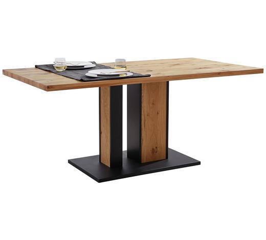 ESSTISCH in Holz, Metall 180/90/76 cm - Eichefarben/Anthrazit, KONVENTIONELL, Holz/Metall (180/90/76cm) - Linea Natura