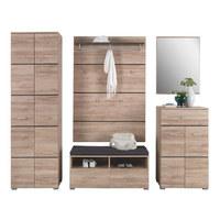 PREDSOBA antracit, hrast - hrast/antracit, Design, leseni material (240/200/40cm)