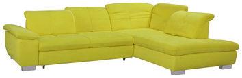 SEDEŽNA GARNITURA,  rumena tekstil - rumena/krom, Design, tekstil (313/242cm) - Xora