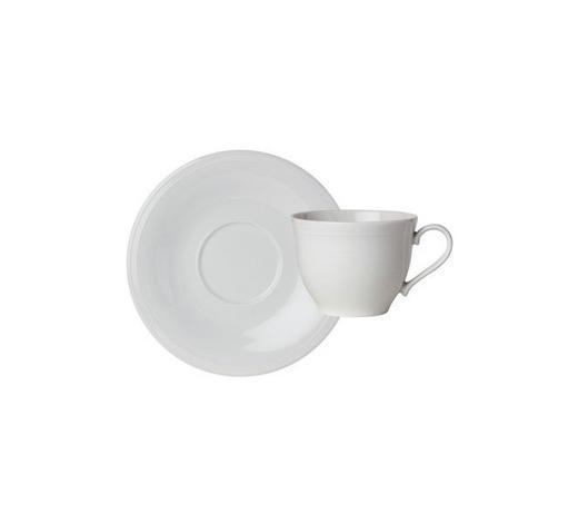 ŠÁLEK NA KÁVU S PODŠÁLKEM, porcelán - bílá, Design, keramika - Novel
