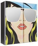 SCHWEBETÜRENSCHRANK 2-türig Multicolor, Schwarz - Multicolor/Schwarz, Design, Glas/Holzwerkstoff (200/216/68cm) - Hom`in