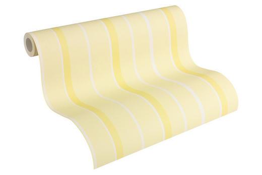 PAPIERTAPETE 10,05 m - Gelb/Weiß, Design, Papier (53/1005cm) - Esprit