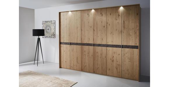 DREHTÜRENSCHRANK in Eichefarben  - Chromfarben/Eichefarben, Natur, Holz/Holzwerkstoff (299,2/229,4/59,5cm) - Dieter Knoll