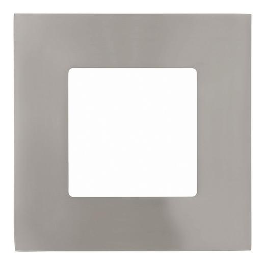 EINBAULEUCHTE 3-teilig Fueva - Nickelfarben, Design, Metall (8,5/8,5cm)
