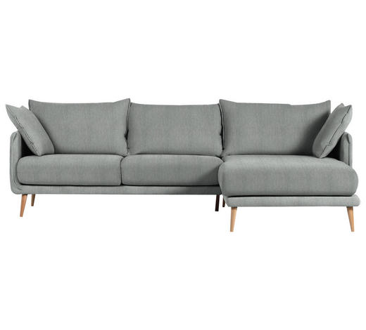 WOHNLANDSCHAFT in Textil Dunkelgrau  - Dunkelgrau/Naturfarben, Design, Holz/Textil (270/160cm) - Carryhome