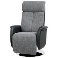 TV-FOTELJ,  siva, črna umetna masa, tekstil - siva/črna, Design, kovina/umetna masa (71/111-86/81-156cm) - Xora