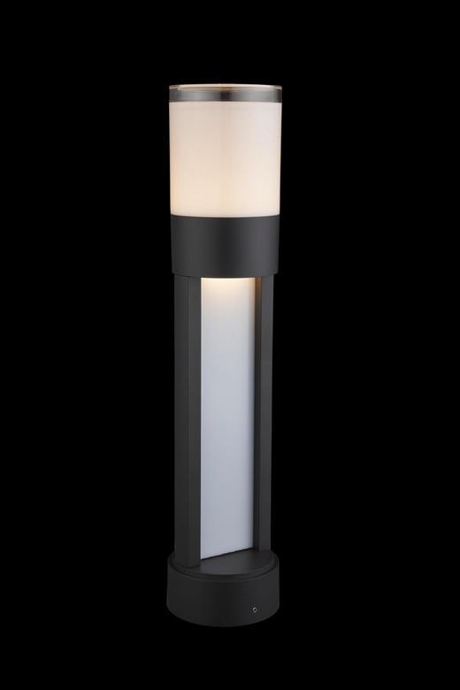 AUßENLEUCHTE Klar, Opal - Klar/Opal, MODERN, Kunststoff/Metall (11/50cm)