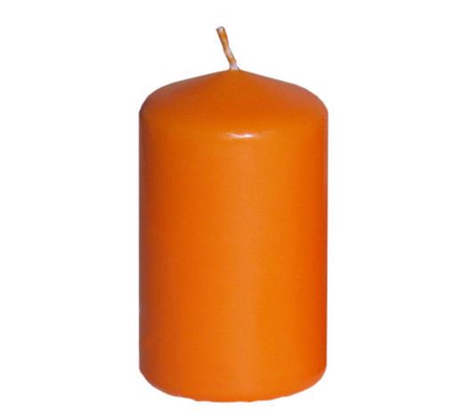 svíčka 8X4,7CM - oranžová, Basics (47/80cm) - Steinhart