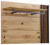 GARDEROBENPANEEL - Eichefarben, Design, Holz/Metall (118/87/35cm) - VALNATURA