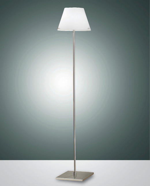 STEHLEUCHTE - Weiß, LIFESTYLE, Glas/Metall (30/155cm)
