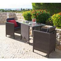 VRTNA GARNITURA - smeđa/antracit, Design, staklo/metal (112/75/62cm) - Ambia Garden