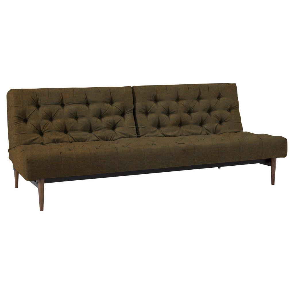 Innovation Chesterfield-sofa braun lederlook
