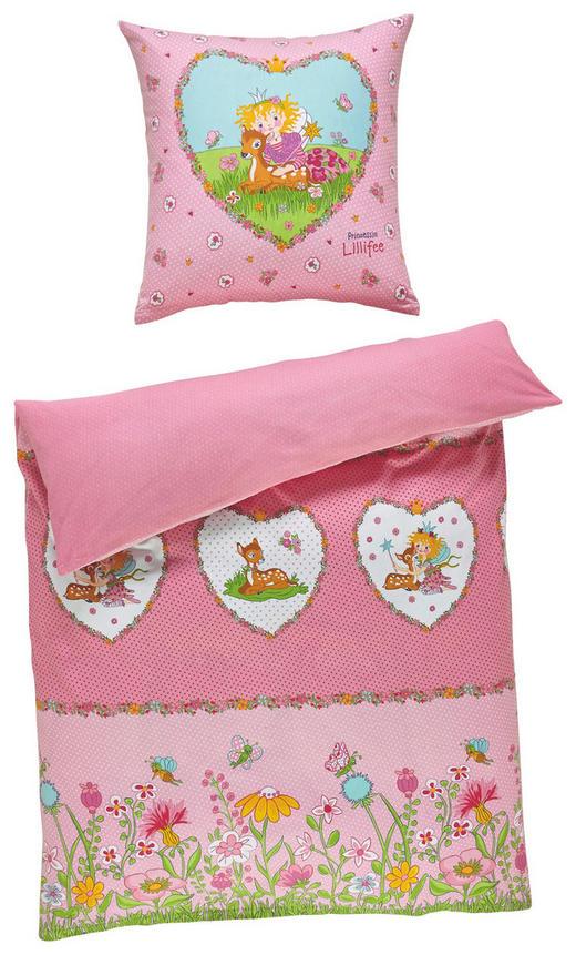 Lillifee Bettwäsche Biber Rosa 135/200 cm - Rosa, Textil (135/200cm)