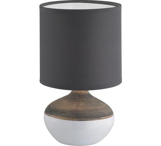 LAMPA STOLNÍ - šedá/bílá, Lifestyle, textil/keramika (32cm)
