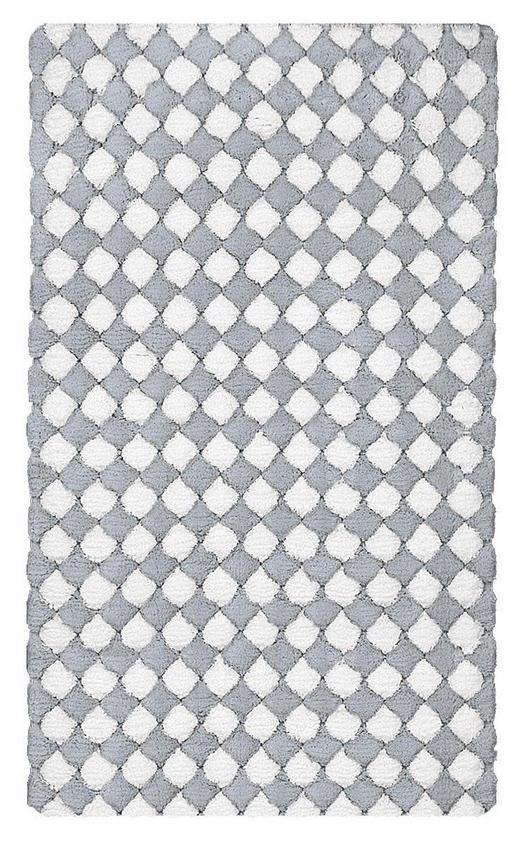 BADTEPPICH in Grau, Silberfarben 60/100 cm - Silberfarben/Grau, Design, Kunststoff/Textil (60/100cm) - Kleine Wolke