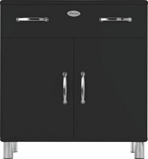 KOMMODE Schwarz - Schwarz/Nickelfarben, Design, Holzwerkstoff/Metall (86/92/41cm) - CARRYHOME