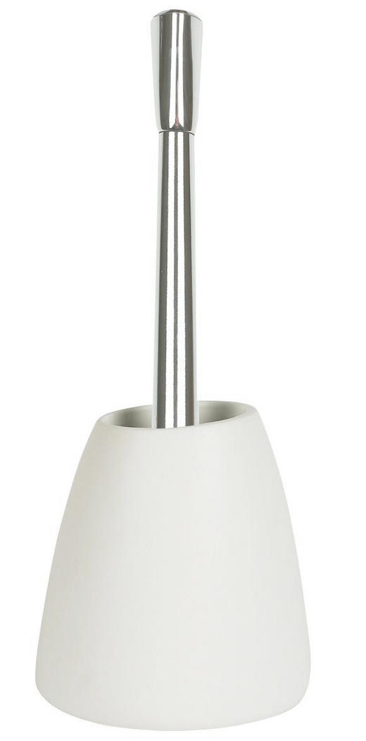 WC-BÜRSTENGARNITUR - Chromfarben/Weiß, Basics, Keramik/Kunststoff (42cm) - Spirella