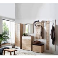 GARDEROBENSCHRANK 60/200/34 cm - Eichefarben/Silberfarben, Design, Holzwerkstoff/Metall (60/200/34cm) - Cassando