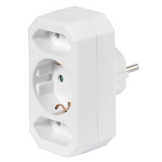 MULTISTECKER - Weiß, Basics, Kunststoff/Metall (9,2/4,8/7,5cm) - Homeware