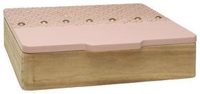 DEKORATIONSLÅDA - rosa, Trend, träbaserade material (25/21/6,5cm) - Ambia Home