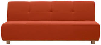 SCHLAFSOFA in Textil Orange, Rot  - Rot/Orange, Design, Holz/Textil (202/88/103cm) - Novel