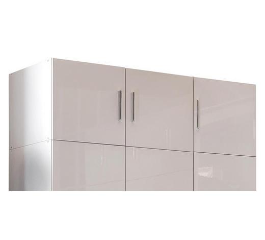 AUFSATZSCHRANK - Chromfarben/Weiß, Design, Holzwerkstoff/Kunststoff (120/40/54cm) - Xora