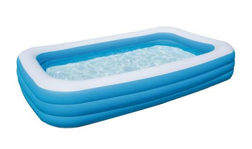 SCHWIMMBECKEN Blau - Blau, Kunststoff (306/183/56cm)