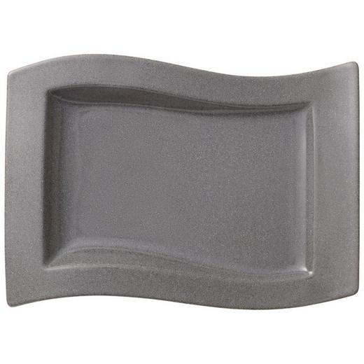SPEISETELLER Porzellan - Grau, Basics (33/24cm) - Villeroy & Boch