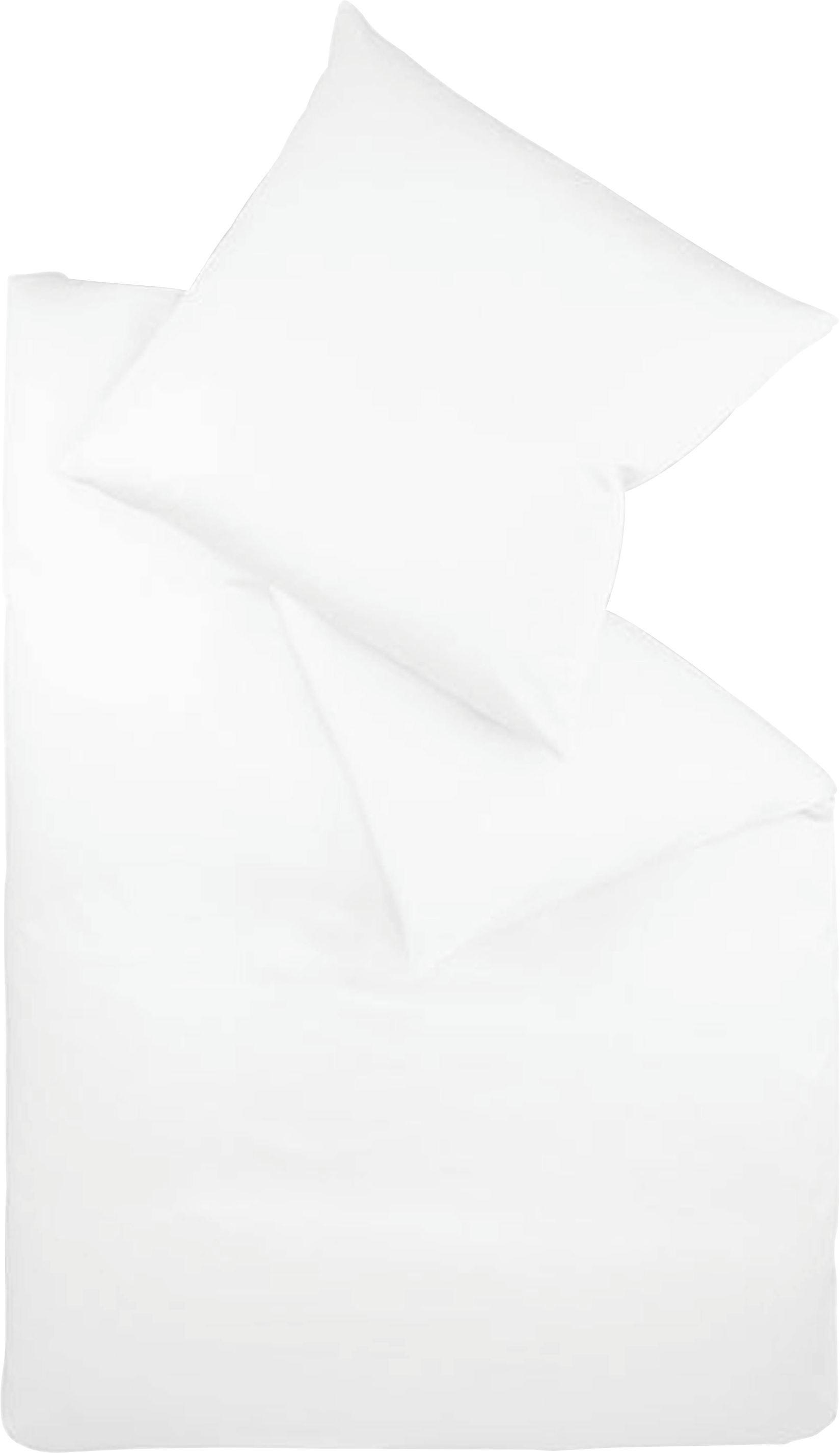 BETTWÄSCHE Makosatin Weiß 155/220 cm - Weiß, Textil (155/220cm) - FLEURESSE