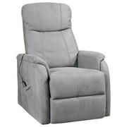 POČIVALNIK,  siva, krom kovina, tekstil - siva/krom, Design, kovina/tekstil (73/110/94cm) - Cantus