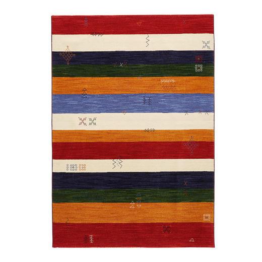 TEPPICH  140/190 cm  Blau, Grün, Multicolor, Rot, Weiß - Blau/Rot, Basics, Textil (140/190cm)