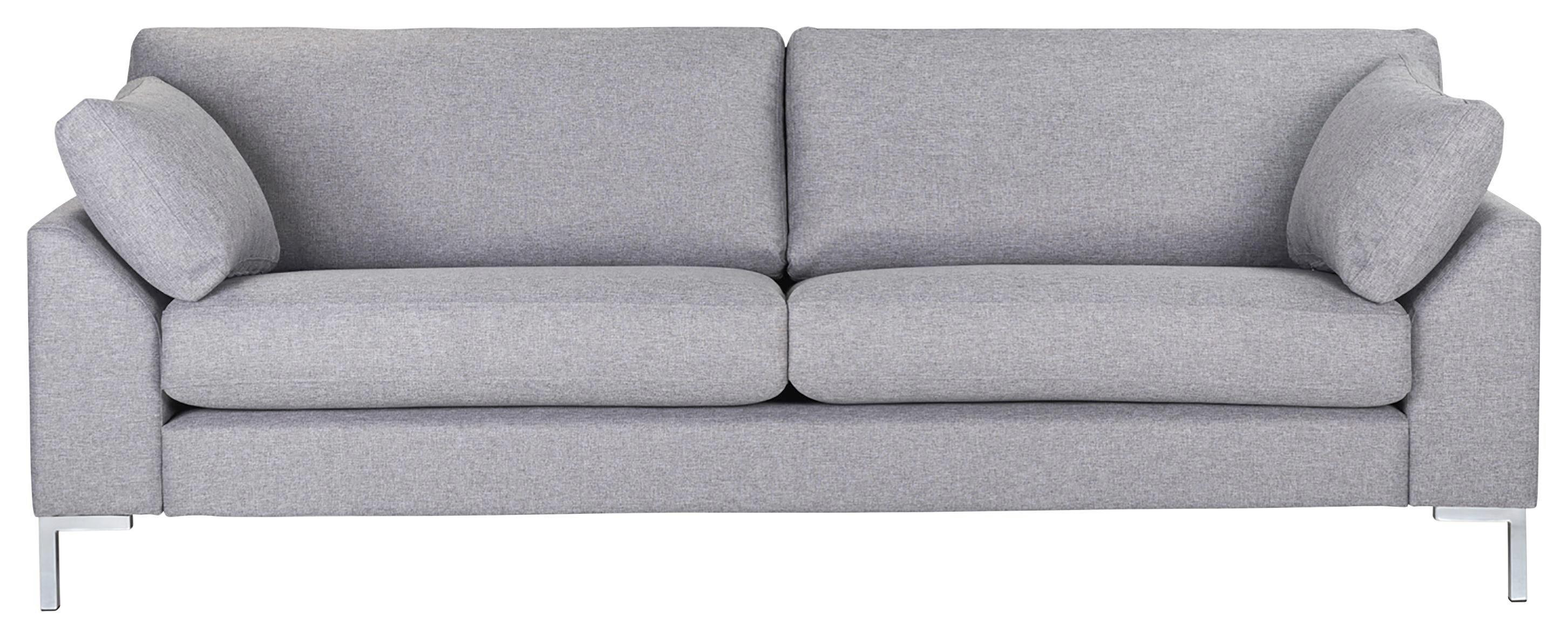 SOFFA - kromfärg/grå, Klassisk, metall/trä (225/84/85cm) - Hom`in
