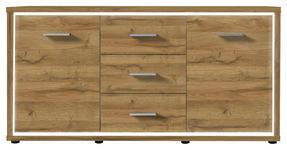 SIDEBOARD 145/80/38 cm  - Eichefarben, KONVENTIONELL, Holzwerkstoff (145/80/38cm) - Carryhome